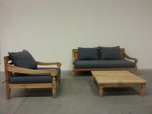 Kawang XL loungeset Teak met Salontafel