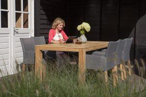 Exotan tuinset 6 York stoel stone grey met Stella tafel 240 cm