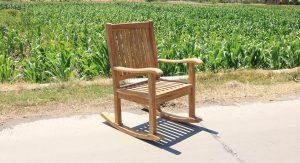 Teak tuin schommelstoel
