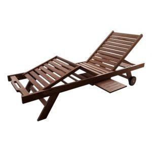 Teakhouten sunlounger luxe set van 2