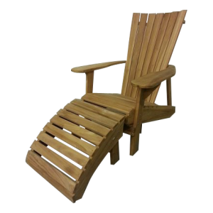 Teak Adirondack Bear Chair
