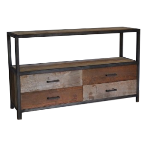 Industrial metal teak rack 4 laden 160 cm