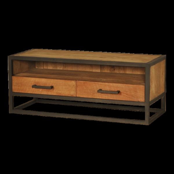Industrial metal teak tv meubel 100 cm