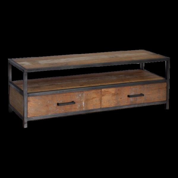 Industrial metal teak tv meubel 130 cm