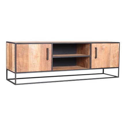 Metal teak tv meubel Banjar 150 cm