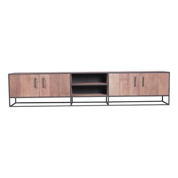 Metal teak tv meubel Banjar 240 cm