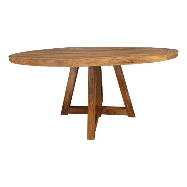 Ronde Tuintafel teak 140 cm houten poten
