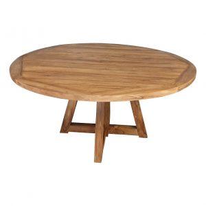 Ronde Tuintafel teak 160 cm houten poten