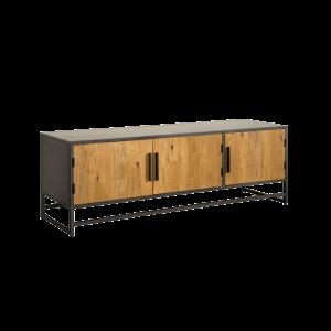Felino Teak TV meubel 3 deurs 160cm