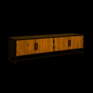 Felino Teak TV meubel 4 deurs 200cm