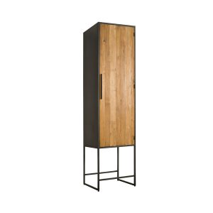 Felino Teak Kast links 1 deur 60cm